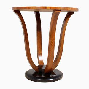 French Art Deco Walnut Wine Table, 1920s