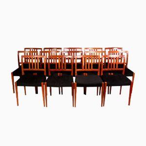 Mid-Century Palisander Esszimmerstühle von Nils Jonsson, 1960er, 8er Set