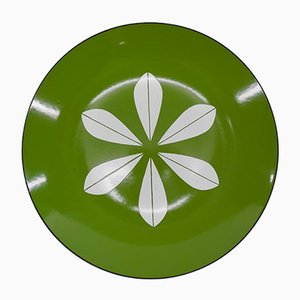 Norwegian Enameled Lotus Plate by Grete Prytz Kittelsen for Cathrineholm, 1962