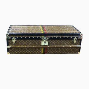 Vintage Monogramm Überseekoffer mit Gesäumten Innerem von Louis Vuitton