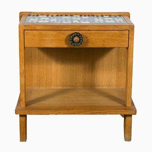 Tables de Chevet en Chêne et en Céramique par Guillerme et Chambron pour Votre Maison, 1970s, Set de 2