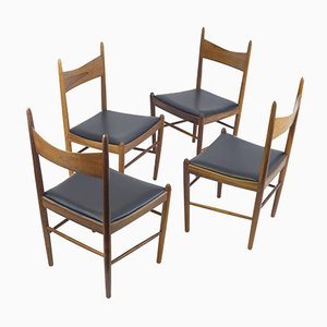 Dining Chairs by Illum Wikkelso for Vestervig Eriksen, 1960s, Set of 4