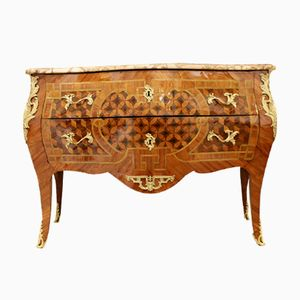 Wood Marquetry Chest of Drawers