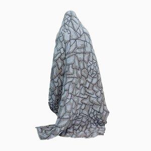 Graue Hide Decke von Nienke Hoogvliet für Textiel Museum Tilburg