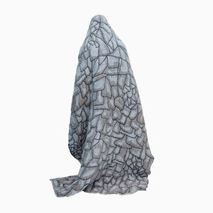 Grey Hide Blanket by Nienke Hoogvliet for TextielMuseum Tilburg