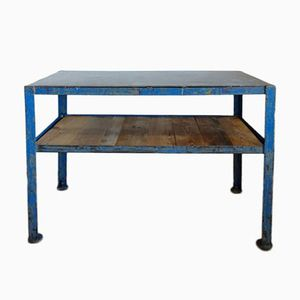 Vintage Industrial Iron & Wood Console