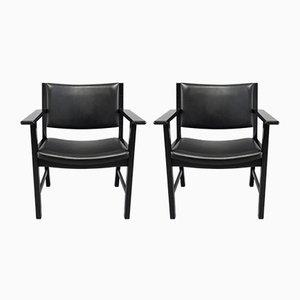 Dänische JH 50 Stühle von Hans J. Wegner für Johannes Hansen Møbelsnedkeri, 1980er, 2er Set
