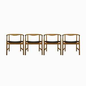 JH 203 Chairs by Hans J. Wegner for Johannes Hansen Møbelsnedkeri, 1975, Set of 4