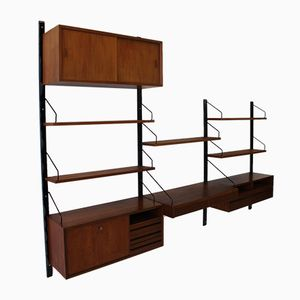 Mid-Century Danish Royal System Wall Unit by Poul Cadovius for Cado