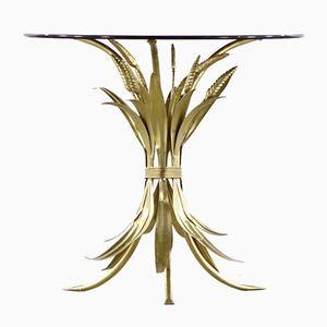 Hollywood Regency Wheat Sheaf Side Table