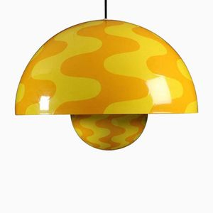 Large Two-Toned Flower Pot Pendant by Verner Panton for Louis Poulsen, 1970s