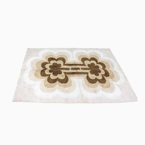 Beige Mid-Century Scandinavian Ege Rya Style Carpet, 1970s