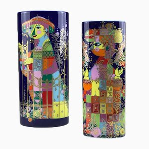 Vintage Vasen von Björn Wiinblad für Rosenthal, 2er Set