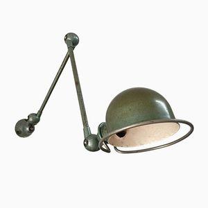 Industrielle Grüne Lampe von Jean-Louis Domecq für Jieldé, 1950er