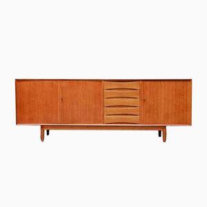 Vintage Teak Sideboard mit Drei Türen und Fünf Schubladen