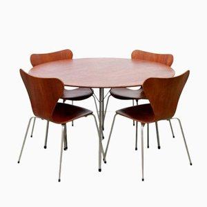 Modell 3600 Esszimmer Set von Arne Jacobsen für Fritz Hansen