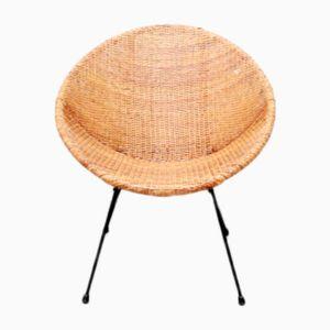 Amerikanischer Stuhl aus Rattan, 1950er