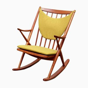 Danish Model 182 Rocking Chair by Frank Reenskaug for Bramin