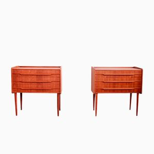 Mid-Century Danish Teak Nightstands, 1960s, Set of 2