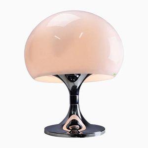 Große Chrom Tischlampe von iGuzzini, 1960er