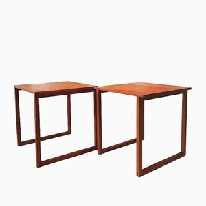 Danish Cube Teak Nesting Tables by Kai Kristiansen for VM, Set of 2