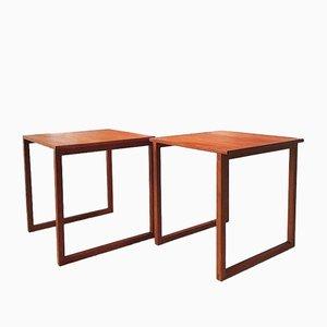 Tables Gigognes Cube en Teck par Kai Kristiansen pour VM, Danemark, Set de 2