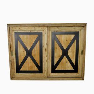 Vintage Kommode aus Holz und Metall
