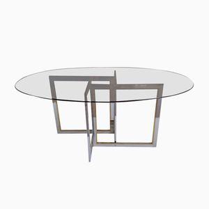Ovaler Esstisch mit Asymmetrischem Gestell, 1970er