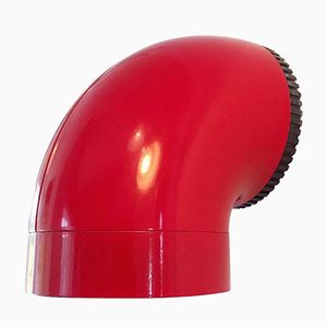 Danish Mid-Century Red Wall Sconce Pipeline by Ole Pless for Nordisk Solar
