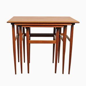Danish Teak Nesting Tables, 1950s, Set of 3