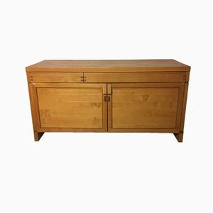 R08 Solid Elm Sideboard by Pierre Chapo, 1970s