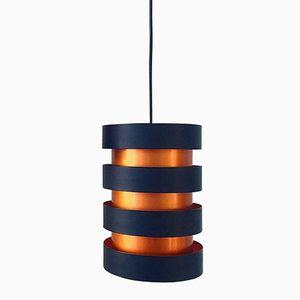 Dänische Mid-Century Kupfer Deckenlampe von Jo Hammerborg für Fog & Morup