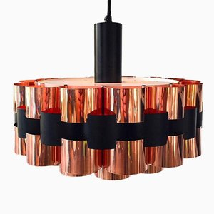 Danish Mid-Century Copper Ceiling Light from Fog and Mørup