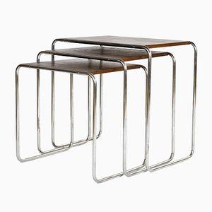 Tables Gigognes B9 par Marcel Breuer pour Mücke-Melder