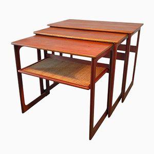 Vintage Danish Nesting Tables by Johannes Andersen and Illum Wikkelsø for CFC Silkeborg