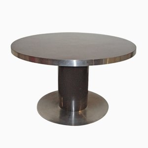 Brown Round Table by Mario Sabot, 1970s