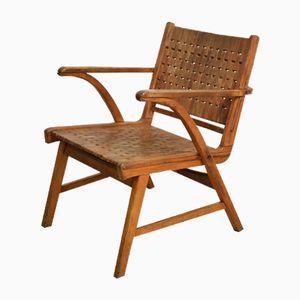 Vintage Bauhaus Buchenholz Armlehnstuhl von Erich Dieckmann für Gelenka