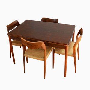 No 71 Rosewood Dining Set by Niels O. Møller for J.L Møllers, 1950s