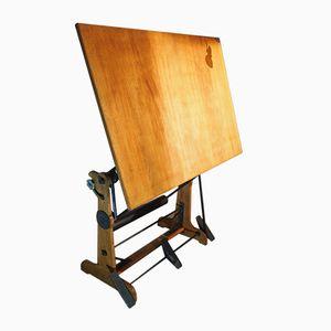 Holz Zeichentisch von La Cellophane Ozalid, 1920