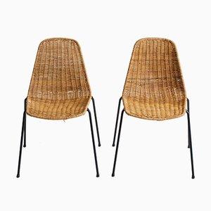 Basket Chairs by Gian Franco Legler, 1952, Set of 2