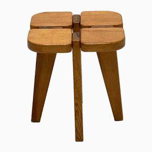 Mid-Century Pine Stool by Lisa Johansson-Pape Pine for Stockmann, 1950s
