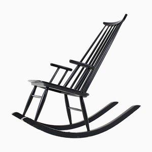 Chaise à Bascule Mid-Century Vintage par Varjosen Puunjalostus pour Uusikylä, Finlande