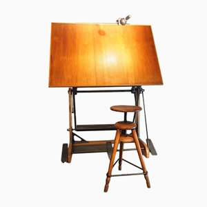 OZA Drawing Table from La Cellophane Ozalide, 1930s