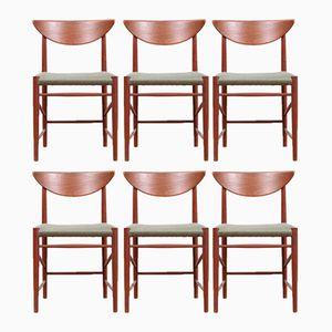 Danish Model 316 Teak Chairs by Hvidt & Mølgaard Nielsen for Søborg Møbelfabrik, 1958, Set of 6