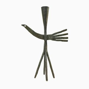 Wrought Iron Candlestick Holder, 1950s