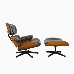 Vintage Lounge Chair & Ottoman by Charles & Ray Eames for Contura/Herman Miller