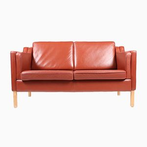 Two-Seater Leather Sofa, 1990s