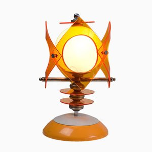 Space Age Opal Glass & Lucite Table Lamp, 1970s