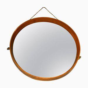 Italian Mid-Century Wooden Mirror