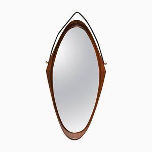 Spiegel mit Holzrahmen, 1960er